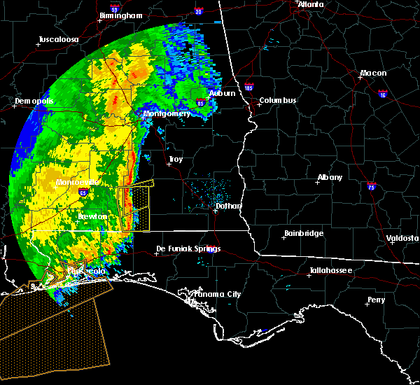 Radar Image for Severe Thunderstorms near Gantt, AL at 11/1/2018 9:59 AM CDT