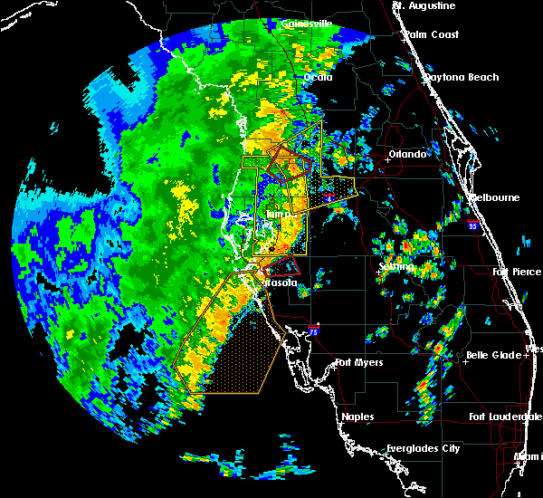 Radar Image for Severe Thunderstorms near Brandon, FL at 11/2/2018 3:58 PM EDT