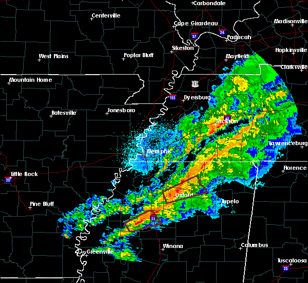 Radar Image for Severe Thunderstorms near Oakland, MS at 11/5/2018 9:25 PM CST