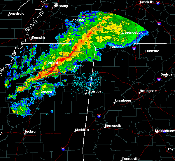 Radar Image for Severe Thunderstorms near Toccopola, MS at 11/5/2018 10:13 PM CST