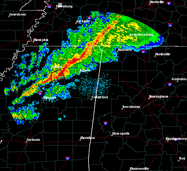 Radar Image for Severe Thunderstorms near Toccopola, MS at 11/5/2018 10:26 PM CST