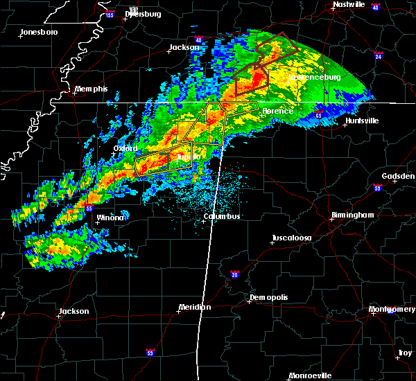 Radar Image for Severe Thunderstorms near Waterloo, AL at 11/5/2018 10:58 PM CST