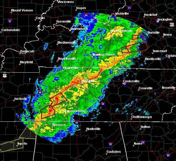 Radar Image for Severe Thunderstorms near Columbia, TN at 11/5/2018 10:58 PM CST