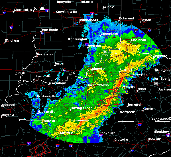 Radar Image for Severe Thunderstorms near Danville, KY at 11/6/2018 12:03 AM EST