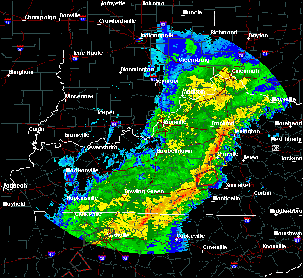 Radar Image for Severe Thunderstorms near Danville, KY at 11/6/2018 12:16 AM EST