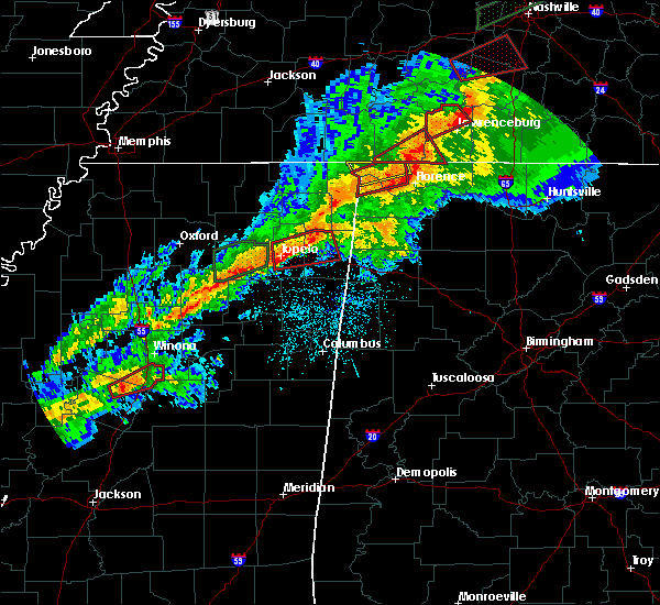 Radar Image for Severe Thunderstorms near Waterloo, AL at 11/5/2018 11:29 PM CST