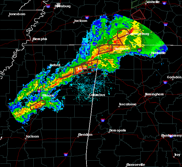 Radar Image for Severe Thunderstorms near Russellville, AL at 11/5/2018 11:35 PM CST