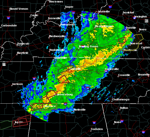 Radar Image for Severe Thunderstorms near Mount Pleasant, TN at 11/5/2018 11:35 PM CST