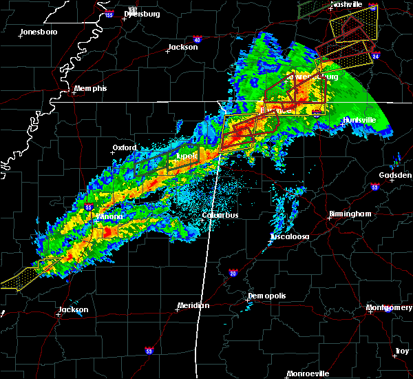 Radar Image for Severe Thunderstorms near Belgreen, AL at 11/6/2018 12:10 AM CST