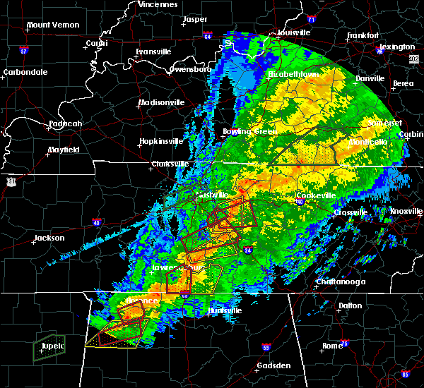 Radar Image for Severe Thunderstorms near Lebanon, TN at 11/6/2018 12:25 AM CST