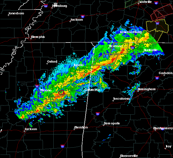 Radar Image for Severe Thunderstorms near Russellville, AL at 11/6/2018 12:56 AM CST