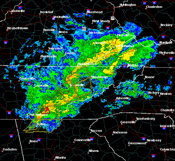Radar Image for Severe Thunderstorms near Knoxville, TN at 11/6/2018 4:57 AM EST