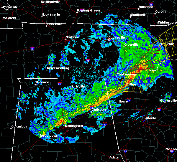 Radar Image for Severe Thunderstorms near Charleston, TN at 11/6/2018 5:03 AM EST