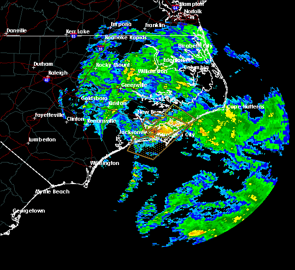 Radar Image for Severe Thunderstorms near Newport, NC at 11/24/2018 2:36 PM EST