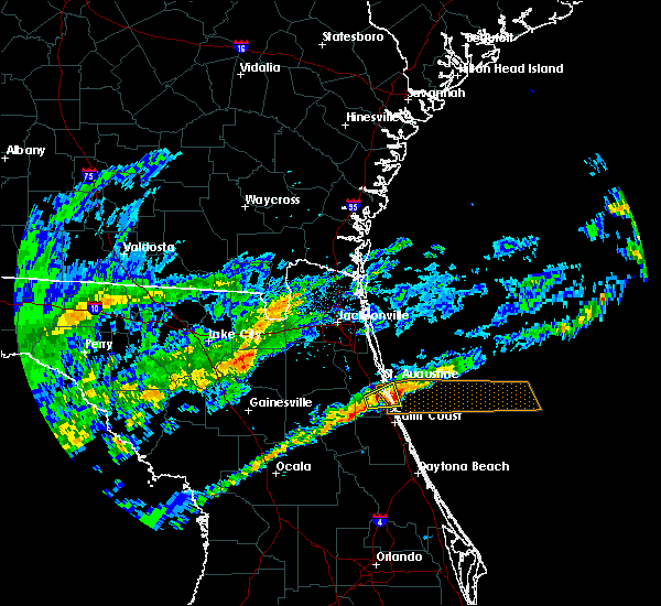 Radar Image for Severe Thunderstorms near St. Augustine South, FL at 11/26/2018 1:11 PM EST
