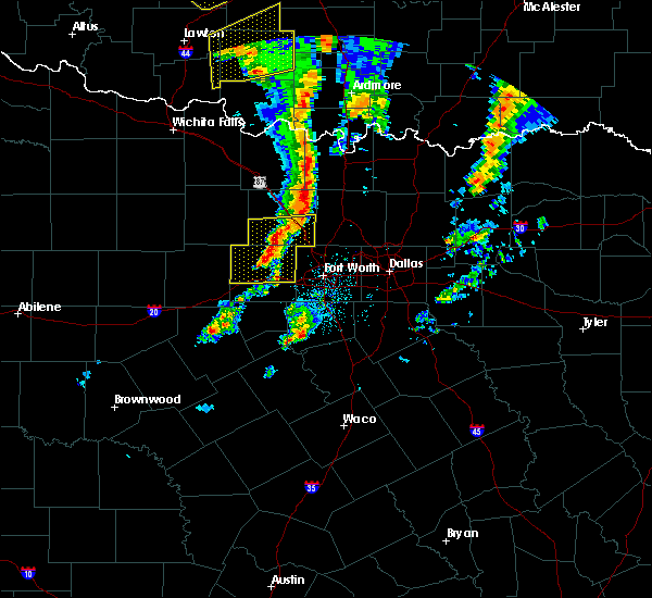 Radar Image for Severe Thunderstorms near Flower Mound, TX at 11/30/2018 8:07 PM CST