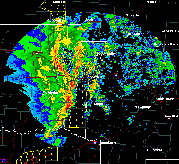 Radar Image for Severe Thunderstorms near Short, OK at 11/30/2018 10:53 PM CST