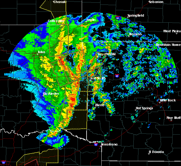 Radar Image for Severe Thunderstorms near Midland, AR at 11/30/2018 10:55 PM CST