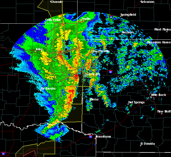 Radar Image for Severe Thunderstorms near Greenland, AR at 11/30/2018 11:05 PM CST