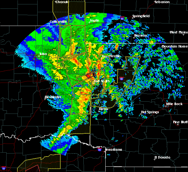 Radar Image for Severe Thunderstorms near Midland, AR at 11/30/2018 11:20 PM CST
