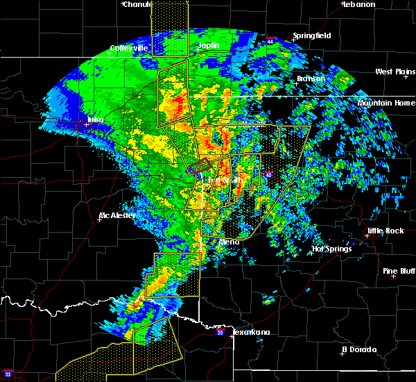 Radar Image for Severe Thunderstorms near Rogers, AR at 11/30/2018 11:29 PM CST
