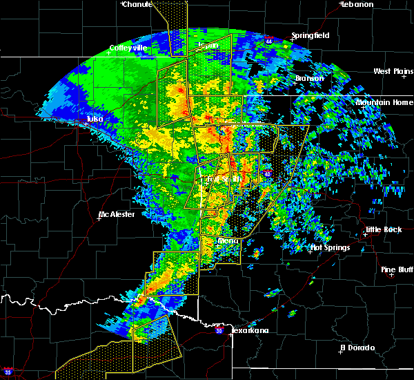 Radar Image for Severe Thunderstorms near Midland, AR at 11/30/2018 11:42 PM CST