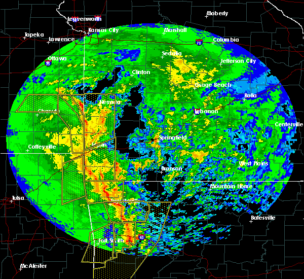 Radar Image for Severe Thunderstorms near Asbury, MO at 11/30/2018 11:46 PM CST