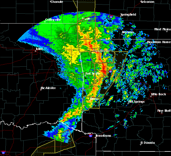 Radar Image for Severe Thunderstorms near Rogers, AR at 11/30/2018 11:52 PM CST
