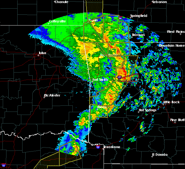Radar Image for Severe Thunderstorms near St. Paul, AR at 12/1/2018 12:14 AM CST