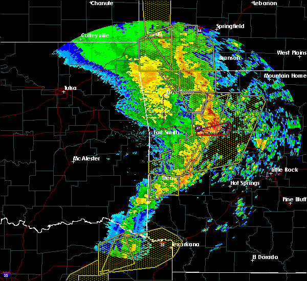 Radar Image for Severe Thunderstorms near Oden, AR at 12/1/2018 12:17 AM CST