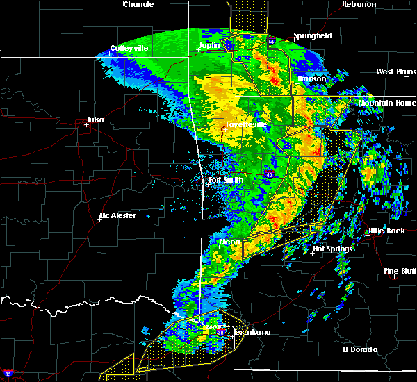 Radar Image for Severe Thunderstorms near Oden, AR at 12/1/2018 12:39 AM CST