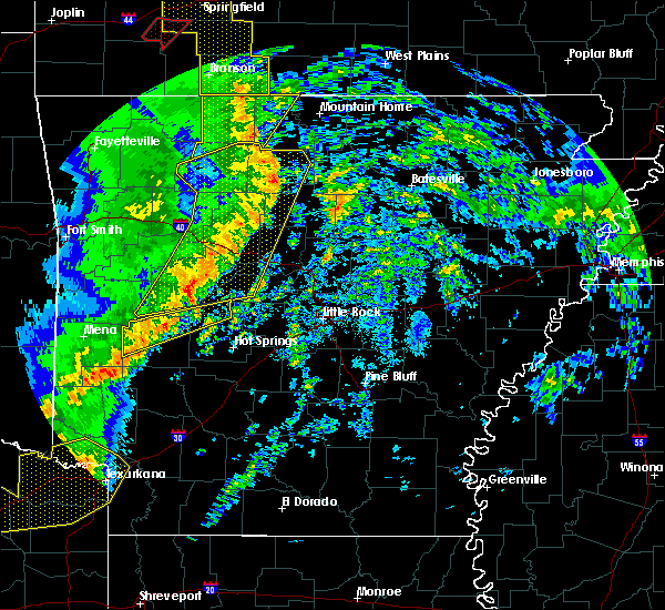 Radar Image for Severe Thunderstorms near Marshall, AR at 12/1/2018 12:51 AM CST