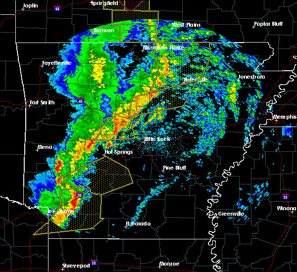 Radar Image for Severe Thunderstorms near Friendship, AR at 12/1/2018 1:35 AM CST