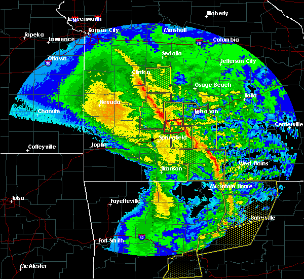 Radar Image for Severe Thunderstorms near Mansfield, MO at 12/1/2018 1:35 AM CST