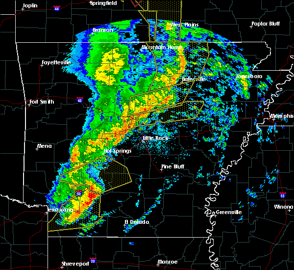 Radar Image for Severe Thunderstorms near Judsonia, AR at 12/1/2018 1:56 AM CST