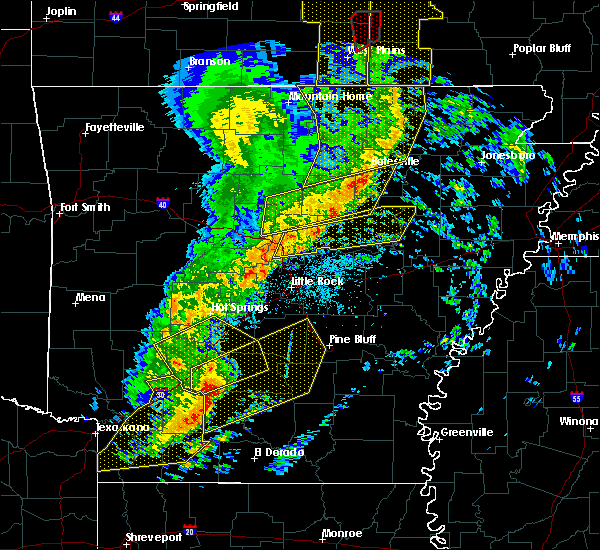 Radar Image for Severe Thunderstorms near Fordyce, AR at 12/1/2018 2:09 AM CST