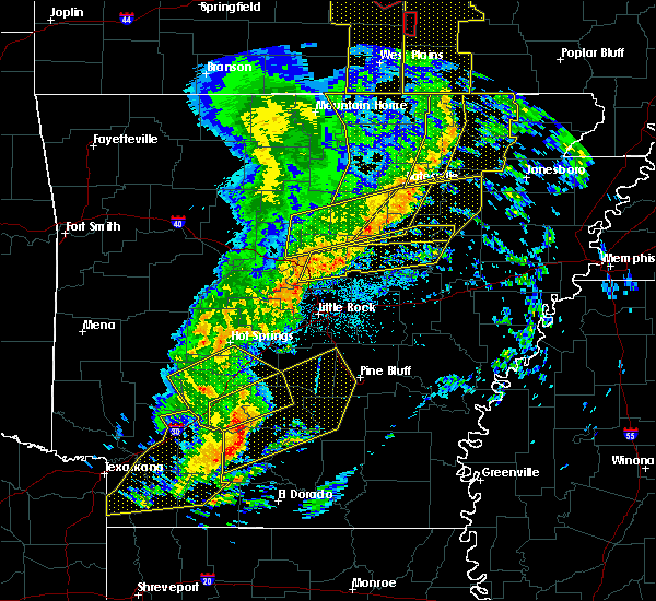 Radar Image for Severe Thunderstorms near Bradford, AR at 12/1/2018 2:15 AM CST