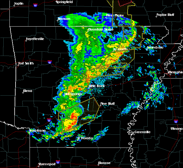 Radar Image for Severe Thunderstorms near Fordyce, AR at 12/1/2018 2:39 AM CST