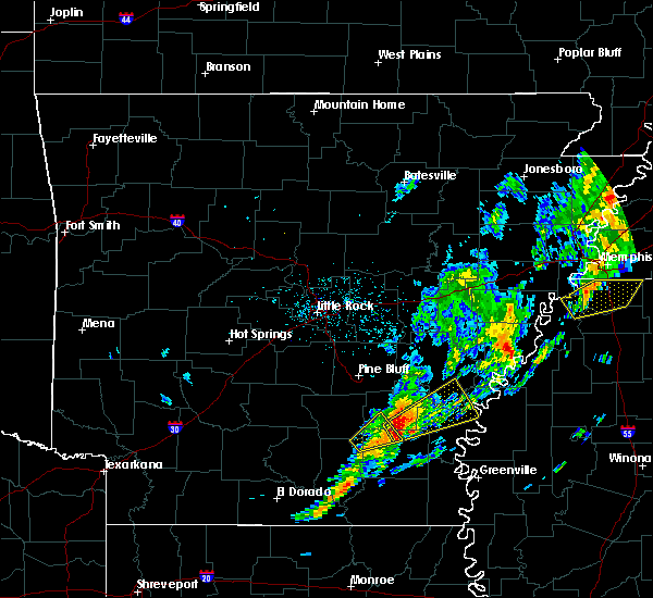 Radar Image for Severe Thunderstorms near Winchester, AR at 12/1/2018 6:08 AM CST