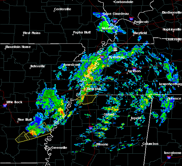 Radar Image for Severe Thunderstorms near Hernando, MS at 12/1/2018 6:14 AM CST