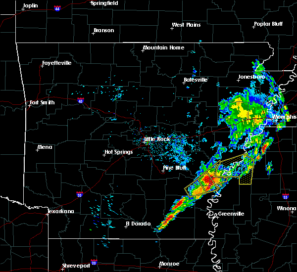 Radar Image for Severe Thunderstorms near Watson, AR at 12/1/2018 6:38 AM CST
