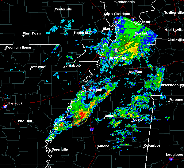 Radar Image for Severe Thunderstorms near Senatobia, MS at 12/1/2018 7:57 AM CST