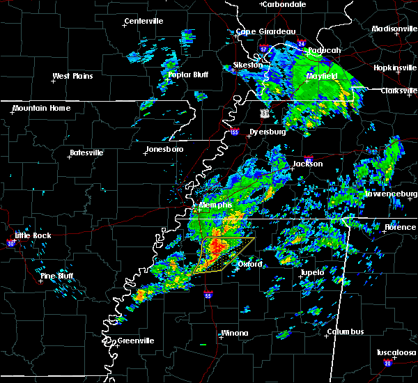Radar Image for Severe Thunderstorms near Sardis, MS at 12/1/2018 8:27 AM CST