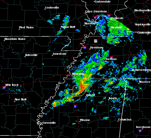 Radar Image for Severe Thunderstorms near Holly Springs, MS at 12/1/2018 8:39 AM CST