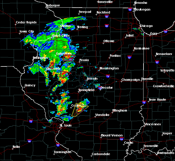 Radar Image for Severe Thunderstorms near Dunfermline, IL at 12/1/2018 4:25 PM CST
