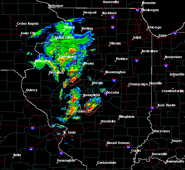 Radar Image for Severe Thunderstorms near Easton, IL at 12/1/2018 4:59 PM CST