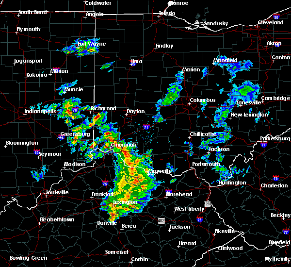 Radar Image for Severe Thunderstorms near Lebanon, OH at 12/1/2018 7:49 PM EST