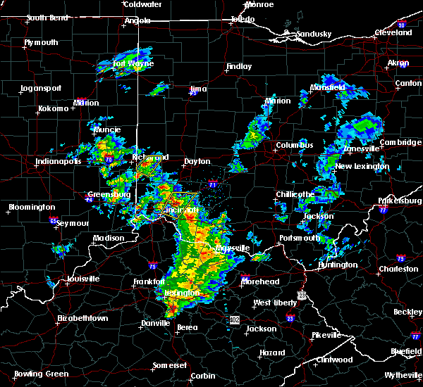 Radar Image for Severe Thunderstorms near Cincinnati, OH at 12/1/2018 7:58 PM EST