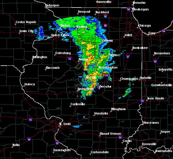Radar Image for Severe Thunderstorms near Le Roy, IL at 12/1/2018 7:10 PM CST