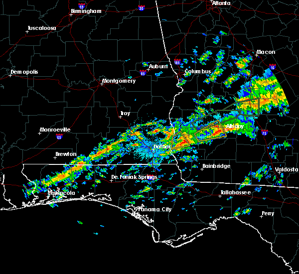 Radar Image for Severe Thunderstorms near Leary, GA at 12/2/2018 12:59 AM EST